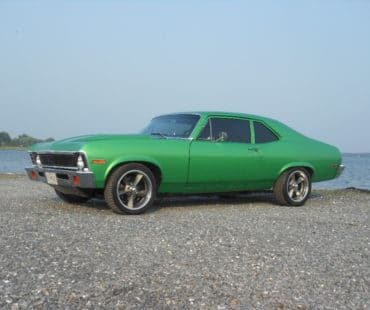 Dan Yakel's Sour Apple Green 1971 Chevy Nova